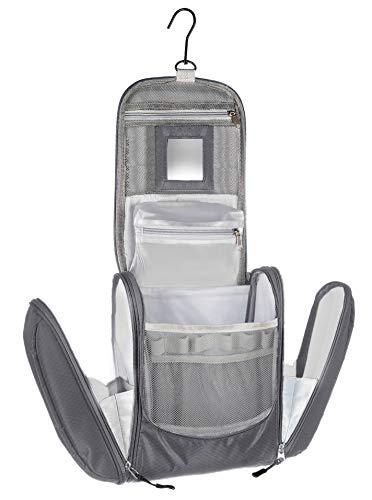 Grote premium toilettas om op te hangen met spiegel, zeer ruime toilettas als geschenk of perfect voor de vakantie