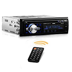 Sound Storm SDC26B Car Stereo - Single Din, Bluetooth Audio and Hands-Free Calling, Built-in Microphone, MP3 Player, CD, USB Port, AUX Input, AM/FM Radio Receiver, Wireless Remote Control