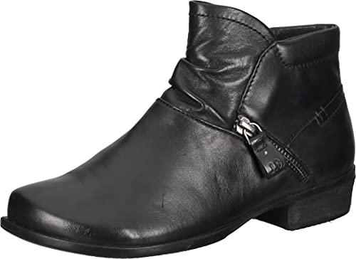 Josef Seibel Damen Ankle Boots Mira 10, Frauen Stiefeletten,Weite G (Normal),Booties,halbstiefel,Kurzstiefel,uebergangsschuhe,schwarz,40 EU / 6.5 UK