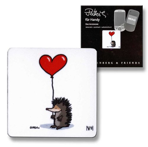 Putztuch fürs Handy Displayputztuch Igel mit Herz Liebe