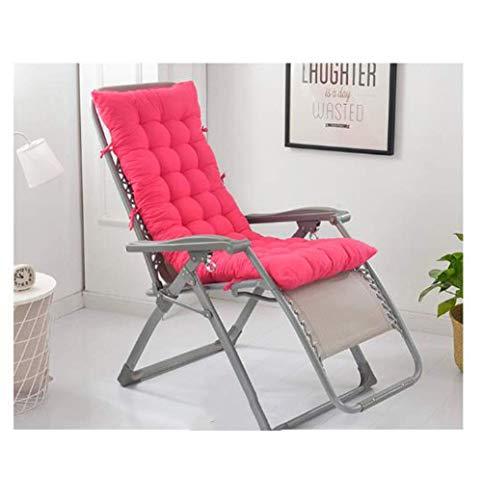 WEIZI Cojín Grueso para Tumbona cojín para Silla Mecedora reclinable de Madera portátil para jardín cojín para Asiento de Coche para Viajes Playa Exterior Rojo Rosa 120x48cm