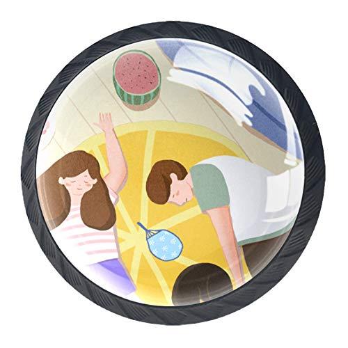 OLEEKA Tirador de manijas de cajón Perillas Decorativas del gabinete del cajón Manija del cajón del tocador 4 Piezas,sofá de Dormir Familiar de Verano
