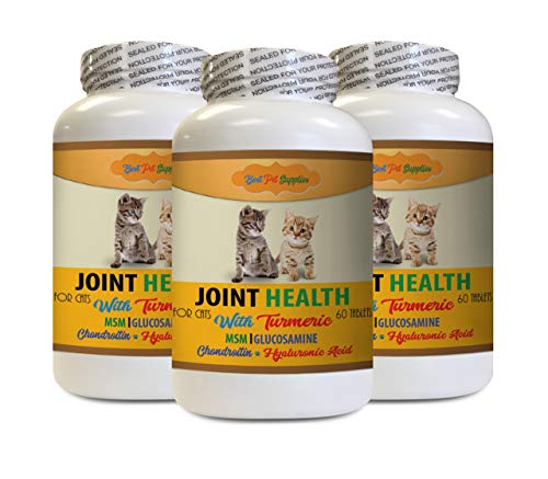 cat Hip and Joint Pain Relief - CAT Joint Health with Turmeric - Best Joint Support Formula - Hip and Joint Soft Chews - 3 Bottles (180 Treats)