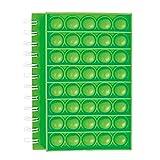 BTSRPU Pop Bubble Sensory Notebook, 50 Sheets Lined Spiral Notebook Lined Journal Notebooks Rainbow Fidget Sensory toy for Girls Boys Kids Birthday Parties School Journal 21x15cm