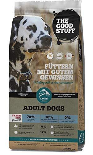 THE GOOD STUFF A BRAND OF MAMACHRIS PETFOOD GMBH | Salmon (Adult) | Hundefutter | Getreidefrei | Single-Protein | Frischfleisch Grösse 2.5 KG