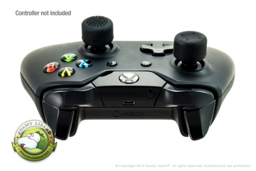 AceShot Thumb Grips (8pc) for Xbox One (& One S) by Foamy Lizard ® Sweat Free 100% Silicone Precision Raised Antislip Rubber Analog Stick Grips For Xbox One Controller (8 grips) BLACK