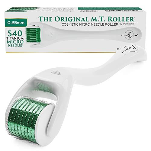 Derma Roller Cosmetic Skin Microneedling Kit for Face - .25mm Titanium...