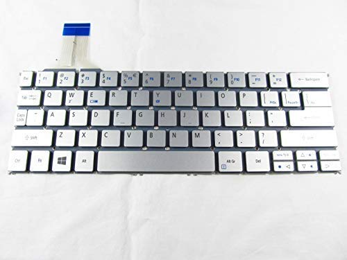 KinFor Product,Keyboard for Acer Aspire P3-131 P3-171 P3-171-6408 P3-171-6820 Series US Keyboard Silver NO Frame + Clear Protector Cover