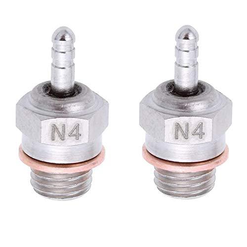 Gaoominy 2 Piezas de BujíAs Incandescentes Hot Spark Vertex SH Piezas Motor para Camiones Nitro Reemplazar OS RC Car HSP 70117,N4