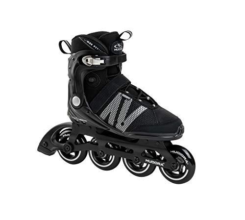 HUDORA Erwachsene Inline Skates Pro, Black, Gr. 43, schwarz