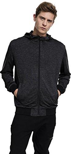 Urban Classics Mens Light Training Jacket Blouson de Sport, Multicolore (Charbon/Noir 1166), XXL Homme