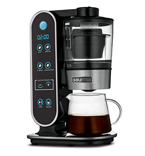 Gourmia GCM7800 Brewdini™ 5-Cup Cold Brew Coffee Maker - Vacuum Technology for 2 Minute Cold Brew - 4 Strength Options