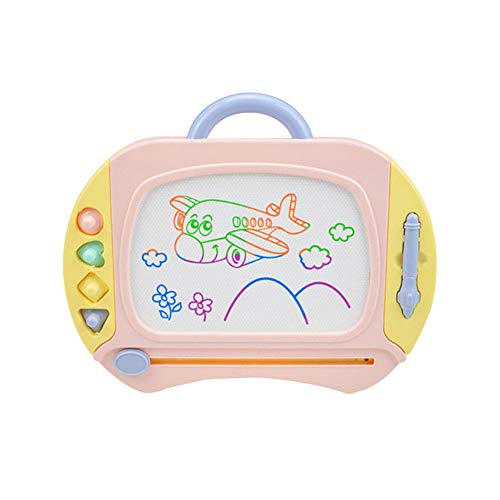 Drawing Board Erasable Colorful Magna Doodle Sketch Tablet Education Writing Pad Drawing Board Games Toys For Kids Gift for Little Girls Boys Kids Children Travel Size Kids Art-Table ( Color : Pink )