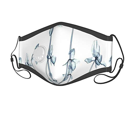 Fashion 3D Print Face Coverings Reuseable Washable,X-Ray Photo Of A Group Of Orchids Bottom To Top Rare Unseen Art In Complex Nature Suitable for children aged 2-6,Breathable Dust Half Face Bandanas