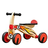 TOP BRIGHT Triciclo de madera para niños de 1 año de edad, bicicleta de madera para triciclo de un año, triciclo para niños de 18 meses con 4 ruedas
