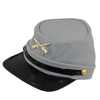 100% Wool Men s Civil War Replica Kepi Hat L/XL Grey