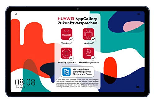HUAWEI MatePad 10,4 Zoll, 2K FullView Display, Wifi Tablet-PC, Huawei Share, eBook Modus, 4 Speaker, Android 10.0, 4 GB RAM, 64 GB ROM, ohne Google Play Store, Midnight Gray
