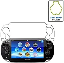 SmackTom Premium Screen Protector/Guard for Sony PSV PS VITA Console (Clear, Packaging) with Logo Silly band