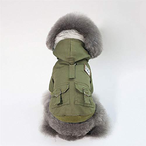 Hond jas met capuchon - Huisdier warme kleding, katoen productie/Binnenstad Pluche/Pocket Ontwerp / 2 benen Winter huisdier jas, c, XL
