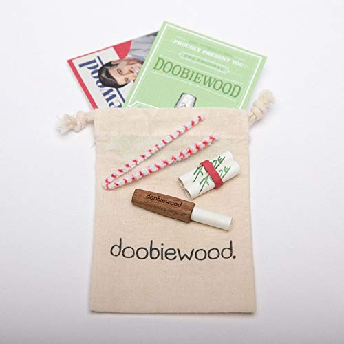 doobiewood® | spliff holder made from American Walnut | adaptor for 9 mm charcoal filters