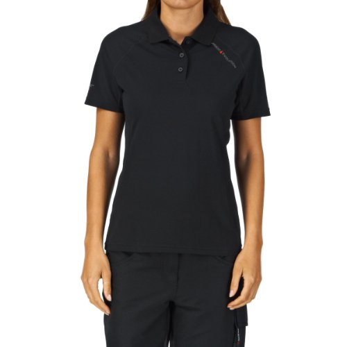 Musto Evolution Sunblock Polo-top voor dames in zwart - Dames - Comfortabel poloshirt met SPF40- Protection