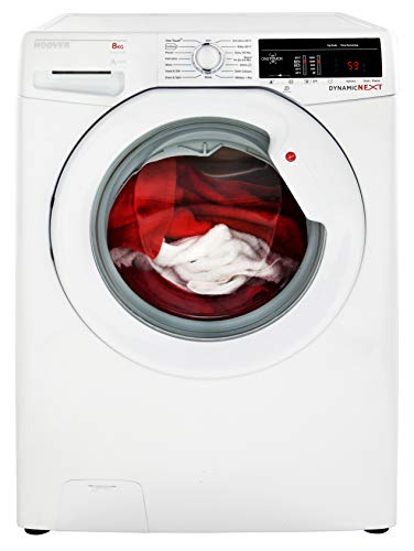 Hoover DXOA 68LW3 Freestanding Washing Machine, NFC Connected, 8Kg Load, 1600rpm spin, White