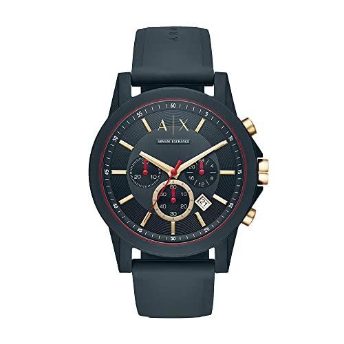 Armani Exchange Men's Chronograph Quartz Watch with Silicone Strap AX1335