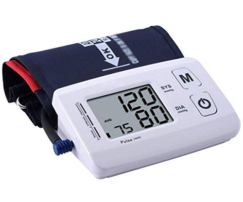HRRH Oberer Arm Typ Digitaler Blutdruckmesser Automatischer elektronischer Stimmblutdruckmessgerät EIN Schlüsselbetrieb Älteres Elternhaus Home Blutdruckmessgerät, Weiß