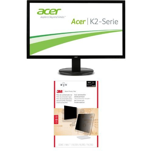 Acer K242HLbd, 24 inch Wide LED DVI EcoDisplay and 3M Privacy Filter