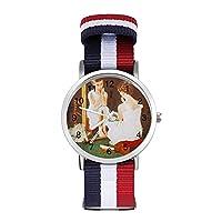 腕時計 ノーマンロックウェル アートコレクション(10)トレンドのナイロン編み腕時計 青春活力ユニセックス時計 新生活フォーマルカジュアルギフト