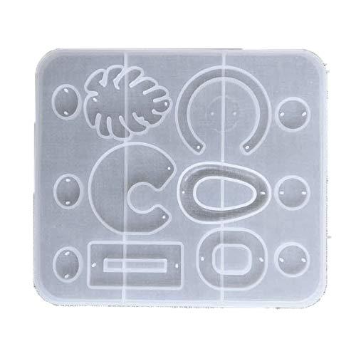 RETYLY 6 Arten Ohrringform UV-Harz Epoxidformen Schmuckwerkzeuge DIY Handcraft Schmuckzubeh?R 5