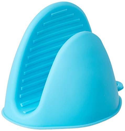 Syga Bagonia Silicone Pinch Grip Mitten Oven Mitt Gripper Kitchen Pot Holder Utensil Tool (Blue) -Set of 2