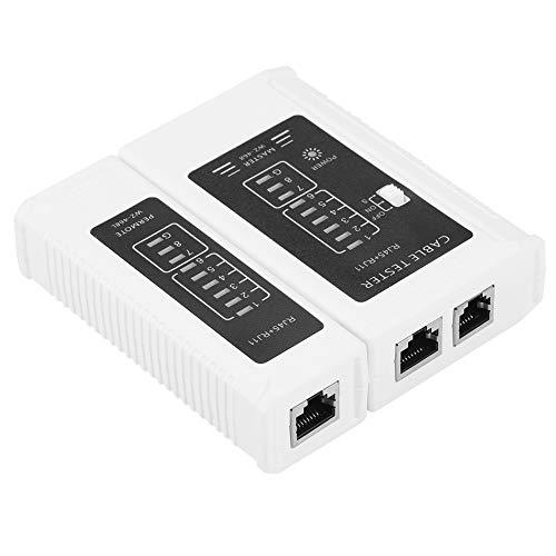 YOPOTIKA Multifuncional RJ45 RJ11 Probador de Cable de Red Ethernet LAN Herramienta de Prueba de Red Blanca