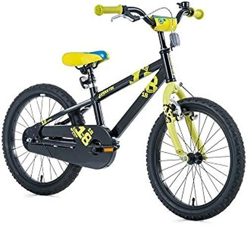 18  Zoll Aluminium Fahrrad LEADER FOX Kinderrad Snake Boy MTB schwarz Schwarz