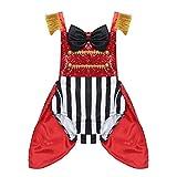 Freebily Domatrice Circo Costume Carnevale Bambina Principessa Allenatore Domatrice Vestito Fotografia Puntelli Foto Body Senza Manche Neonato Rosso 2-3 Anni