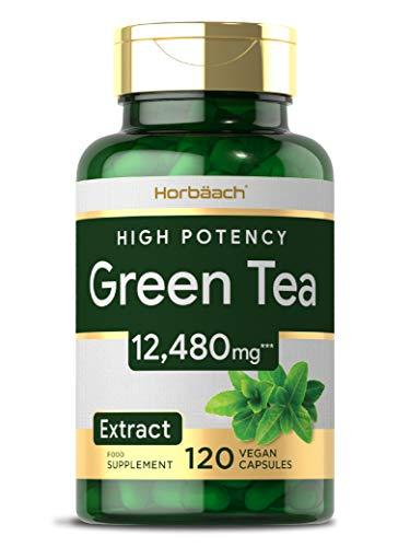 Green Tea Extract 12480mg | 120 Vegan Capsules | Keto Diet Friendly | High Strength | Non-GMO, Gluten Free Supplement
