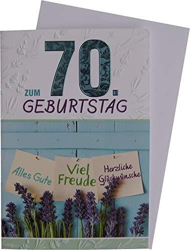 Glückwunschkarte 70. Geburtstag 54-h6270
