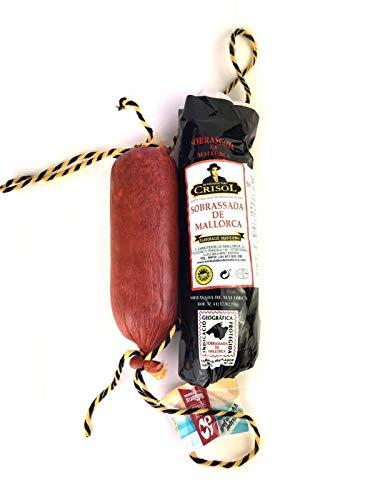 Sobrasada aus Mallorca   vom schwarzen mallorquinischen Schwein   traditionelle Herstellung   Sobrassada Paprika Streichwurst - ähnlich Chorizo