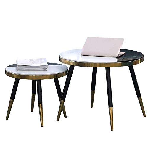 Haushaltsprodukte Tisch Schmiedeeisen plattierter runder Tisch Personalisierter Tisch Tischgröße Designer Nordischer Marmor minimalistische Persönlichkeitstische (Farbe: B)