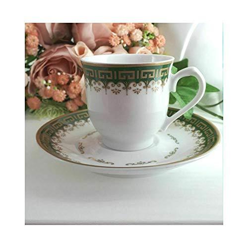 SARTI Atelier Set 13 stuks porselein saint denise groen goud voor koffiekopjes en accessoires