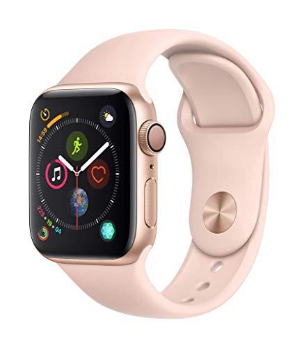 AppleWatch Series4 (GPS) cassa 40mm in alluminio color oro ecinturino Sport rosa sabbia