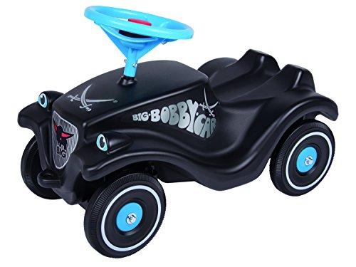 BIG - Bobby Car Classic Sansibar - Kinderfahrzeug mit Aufklebern für Jungen und Mädchen, belastbar bis zu 50 kg, Rutschfahrzeug für Kinder ab 1 Jahr, schwarz