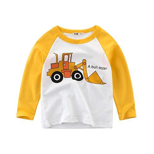 Huhu833 Baby Sweatshirts, Kleinkind Baby Sweatshirt Kinder Jungen Mädchen T-Shirts Cartoon Auto Tops Unterhemd Outfits Kleidung (Weiß, 4-5Jahre)