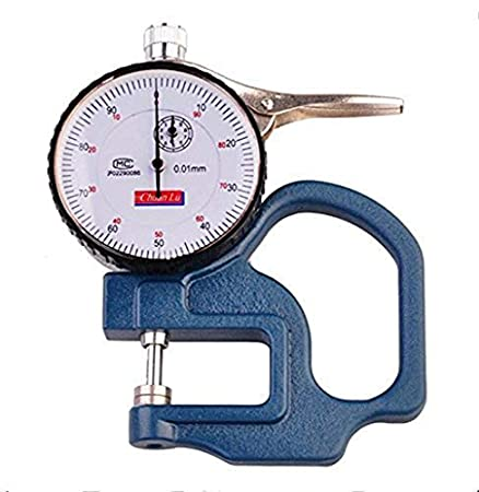 Thickness Gauge Range 0-10mm Thickness 0.01mm LCD Digital Leather Cloth Film USA