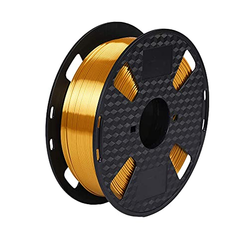 Marca Amazon - Eono 3D Printer Filament - Silk Gold Shiny Metal -1,75 mm - Carrete de 1 kg y 2,2 libras