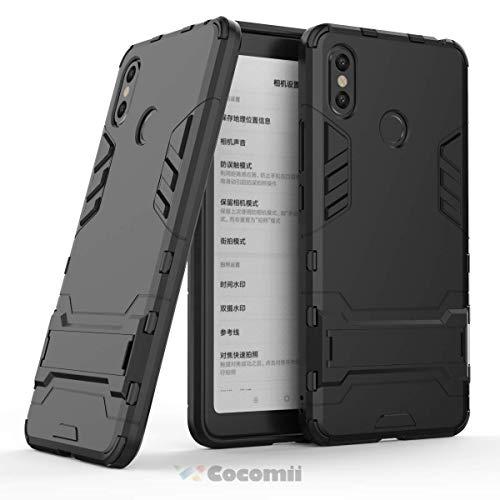 Cocomii Iron Man Armor Xiaomi Mi Max 3 Hülle NEU [Strapazierfähig] Taktisch Griff Ständer Stoßfest Gehäuse [Militärisch Verteidiger] Ganzkörper Case Schutzhülle for Xiaomi Mi Max 3 (I.Jet Black)
