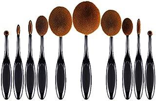IRISFLY 10 Pcs Oval Toothbrush Makeup Brush Set Foundation brushes Set