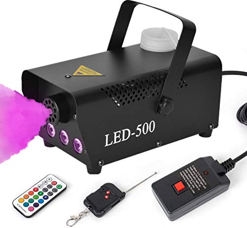 Fog Machine, BZBRLZ 500W Smoke Machine with 13 Colorful LED Lights Effect, 2000CFM Fog with 30cm...