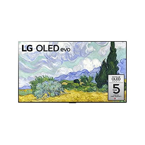 LG OLED Smart TV 65' Gallery Thin Frame 4K TV, AI-Powered 4K, 120Hz Refresh Rate, Dolby Cinema, Screen Mirroring, Bluetooth, Google/Alexa - 2021