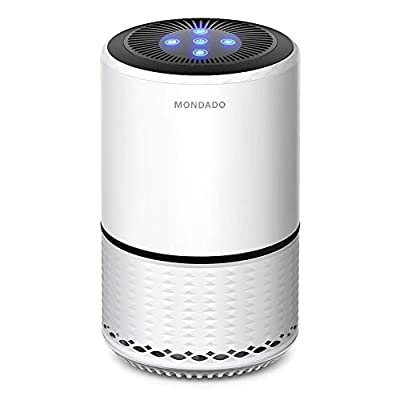 MONDADO Air Purifier for Home - True HEPA Filter & Negative Ion Generator Ionizer - Air Eliminator Cleaner for PM2.5, Smokers, Pets Dander, Cooking, ?2019 Update? MM-KS121W